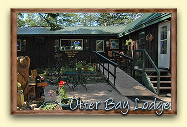 Otter Bay Lodge & Resort in Cable, Wisconsin is located on popular Lake Owen