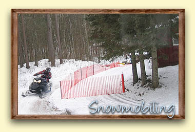 Otter Bay Resort on a snowmobile trail, ride to your cabin!